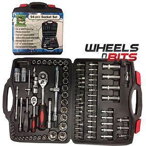 94PC-1-2-034-amp-1-4-034-SOCKET-SET-amp-SCREWDRIVER-BIT-TORX-RATCHET-DRIVER-CASE-TOOL-KIT