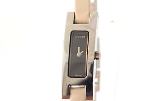 8587038463a Image is loading Ladies-Gucci-YA039523-3900L-Series-Stainless-Black-Dial-