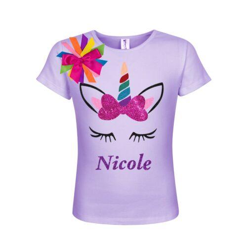 Bubblegum Divas Glitter Unicorn Shirt Girls Personalized Girls Birthday Gift