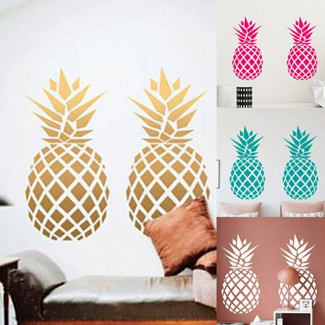 Pineapple Wall Stickers Vinyl Art Removable Home Kids Room Decals Decor Mural US