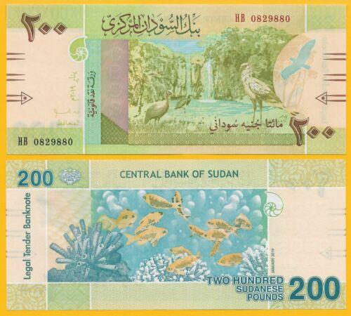 Sudan 200 Pounds p-new 2019 UNC Banknote