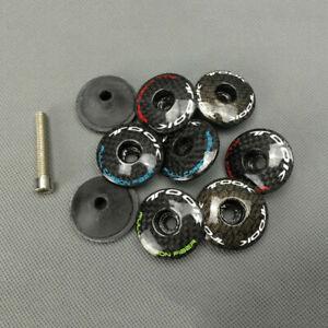Carbon-Fiber-3K-Headset-Stem-Top-Cap-Cover-Bolt-For-1-1-8-034-MTB-Road-Bike-Fork
