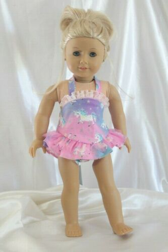 Dress Outfit fits 18 inch American Girl Doll Clothes Swimsuit Unicorn