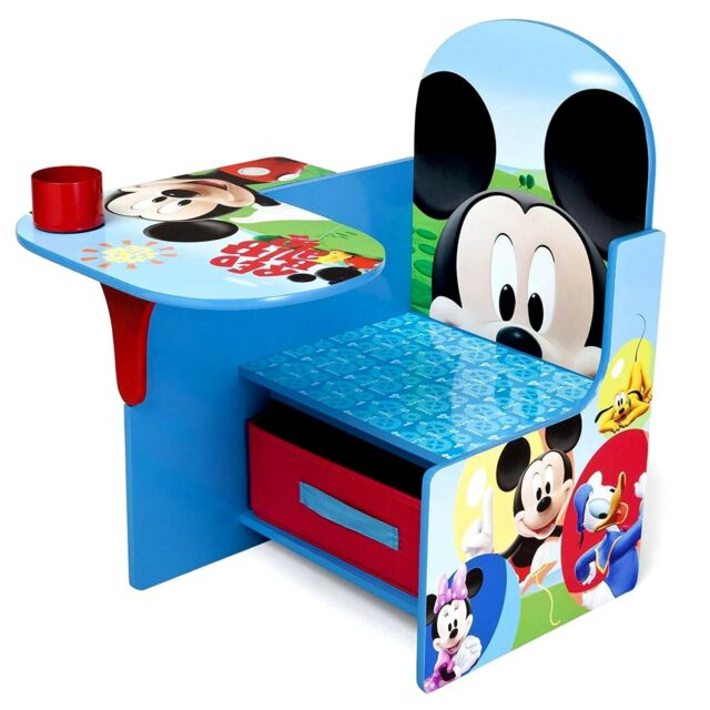 Kids Desk And Chair Set Mickey Mouse Activity Table Boys Room Stool Study Play