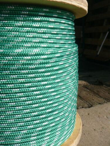 "Dacron Sailboat Rope 3//16/"" x 100/' Green//White NovaTech XLE Halyard Sheet Line"