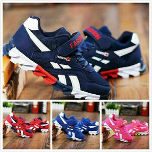 Boys Girls Running Trainers size Shoes Kids Children Comfort Sports School Shoe