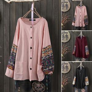ZANZEA-Women-Long-Sleeve-Flower-Crochet-Shirt-Tops-Buttons-Down-Blouse-Plus-Tops