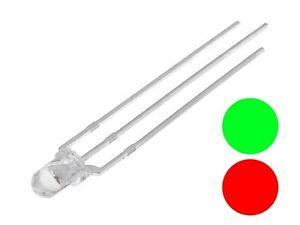 S474-10 Stück SMD LED 1206 RGB rot grün blau gemeinsame Anode Plus mini LED
