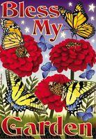 Mini Yard & Garden Flag Outdoor Indoor 12 X 18 Bless My Butterfly Garden
