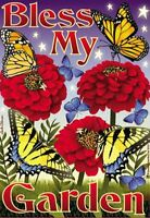 Decorative Garden Flag bless My Floral Butterfly Indoor outdoor 12x18 Garden
