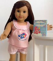 Care Bear Pajamas And Mini Book For American Girl Doll 18 Accessories Set