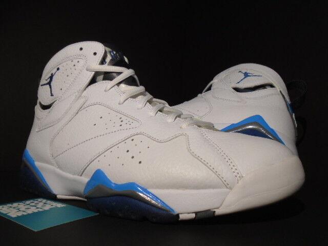 2015 Nike Air Jordan VII 7 Retro WHITE FRENCH BLUE UNIVERSITY FLINT GREY 10.5