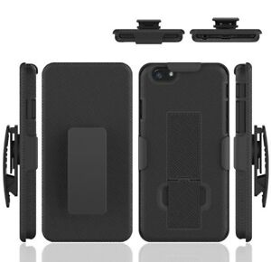 For iPhone 6 Plus Holster Shell Combo Hard Kickstand Belt Clip Slim Phone Case