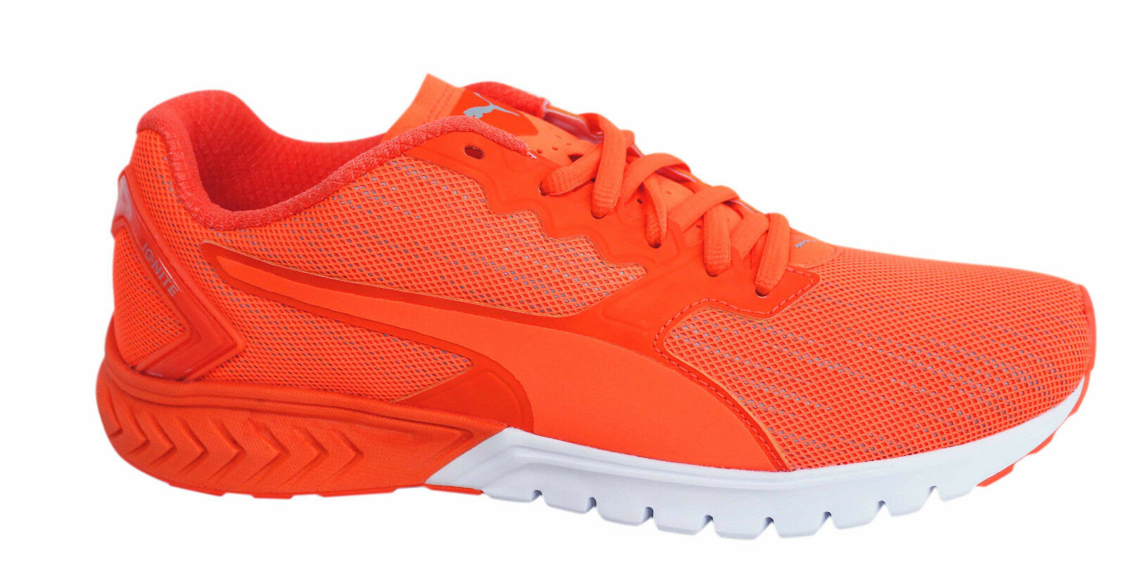 Puma Ignite Dual Nightcat Orange Lace Up Mens Trainers 189354 02 U15