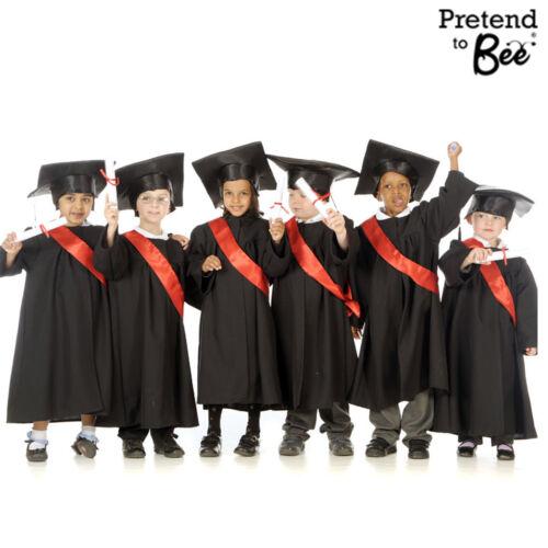Set di 6 graduazione Abiti per Bambini /& Ragazzi Caps Cappelli COSTUMI ABITI età 3-5-7