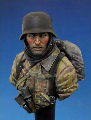 1//10 BUST Resin Figure Model Kit Deutscher Soldat Panzergrenadier WWII...