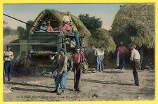cpa Postée de TAVERNY Scène PAYSANNE Les FOINS Machine AGRICOLE Moissonneuse ELD