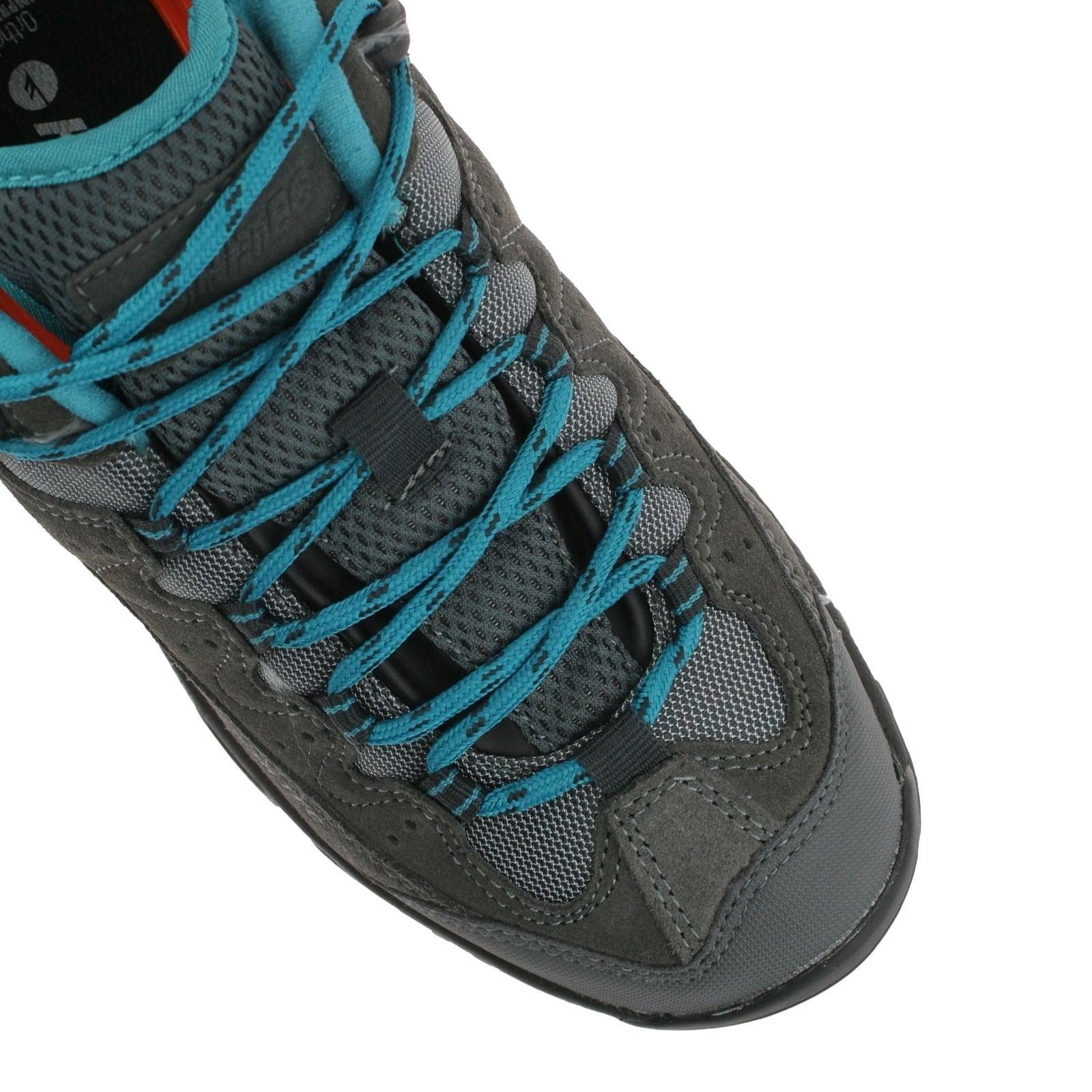 LADIES OX HI-TEC OX LADIES BELMONT LOW I WATERPROOF CHARCOAL Blau WALKING HIKING Schuhe 098cf1