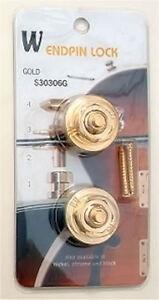 Analytique Guitar Hardware-straplocks Verrouillage Bouton Strap Locks Lot De 2-or-afficher Le Titre D'origine Riche Et Magnifique