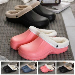 Winter-Soft-Women-Men-Warm-Clog-Slipper-Indoors-Winter-Plush-Lined-House-Shoes