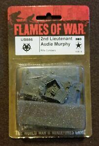 Flames of War American - US886 2nd Lieutenant Audie Murphy - OOP - Late War