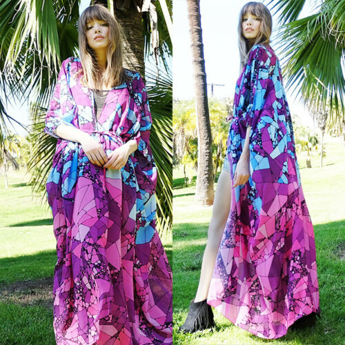 Damen Bikini Cover Up Vertuschung Strandkleid Sommer Chiffon Kimono Cardigan Hot