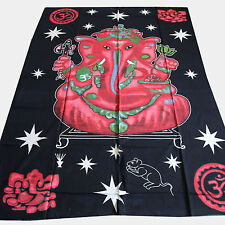 tagesdecke-ganesh Wall Decorative Cloth Cloth Cover India Red Black Single