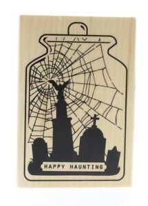 Steampunk Happy Halloween Inkadinkado Wood Stamp