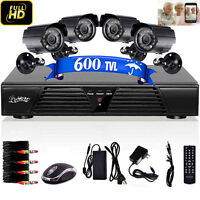 4 Chl H.264 Digital Video Recorder With 2 Outdoor Waterproof Ir Coms Camera