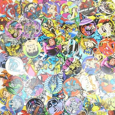 Lot of 20 Pogs Marvel Comics Characters X-Men Spider Man Others from 1993 Slamco