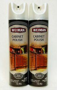 2 Weiman Cabinet Polish Kitchen Bathroom Clean Condition