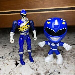 Vintage Power Rangers Blue Ranger Lot of 2 Action Figure And Burger King