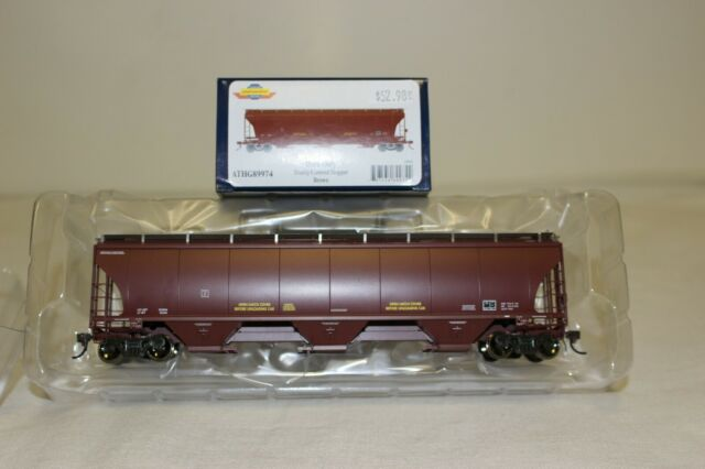 Athearn Genesis HO Trinity 3-Bay Covered Hopper Data Only Brown ATHG89974