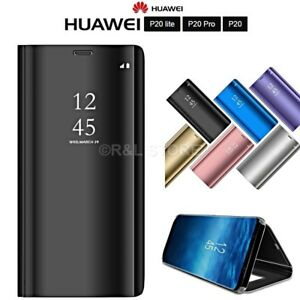 COVER-per-Huawei-P20-Lite-Pro-FLIP-ORIGINALE-MIRROR-Case-Ultra-SLIM-Clear-View