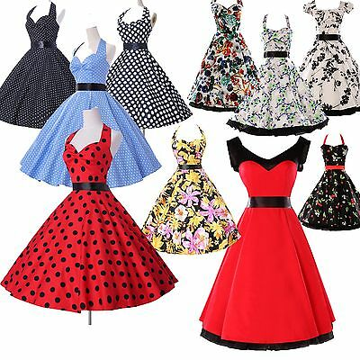 2015 CHEAP! Housewife Vintage Retro Style 50s Swing Party Pinup Dress