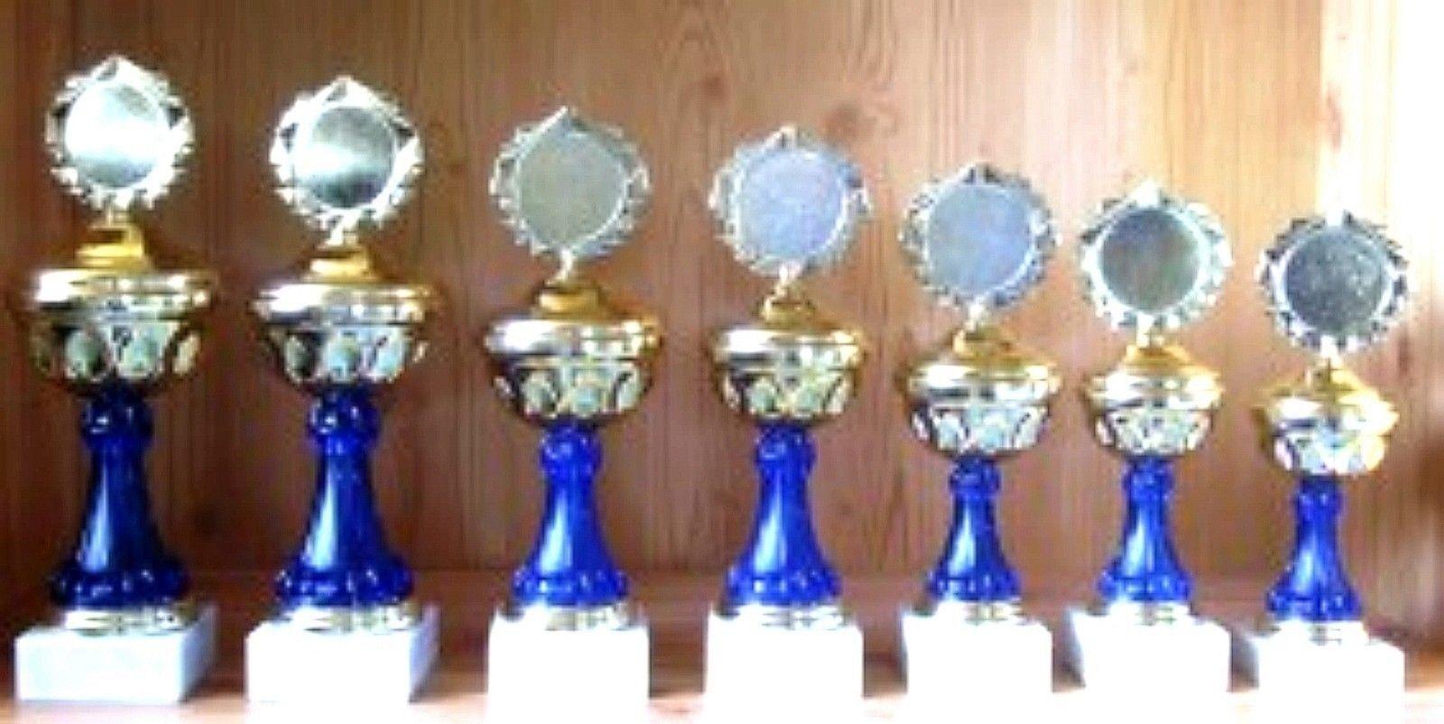 7 POKALE Serie 30 bis 24cm gestaffelt mit mit mit Emblem + Gravur  44 (Pokal Turnier) a2cfe8