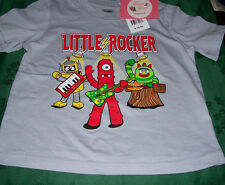 Yo Gabba Gabba Brobee Plex Muno Gray Short Sleeve Tee Shirt Toddler Boys 3T $15