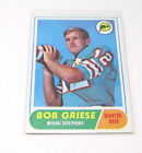 1968 MIAMI DOLPHINS QUARTERBACK BOB GRIESE #196 TOPPS ROOKIE FOOTBALL CARD **