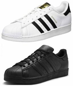 hot sale online b88e1 46188 Details about Adidas Originals Superstar Foundation Mens Trainers Casual  Shoes Black White