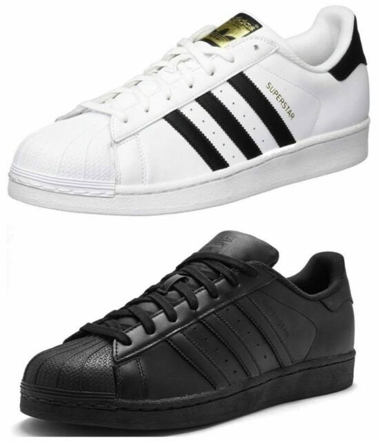 Adidas Mens Trainers Originals Superstar Foundation Casual Shoes Black White