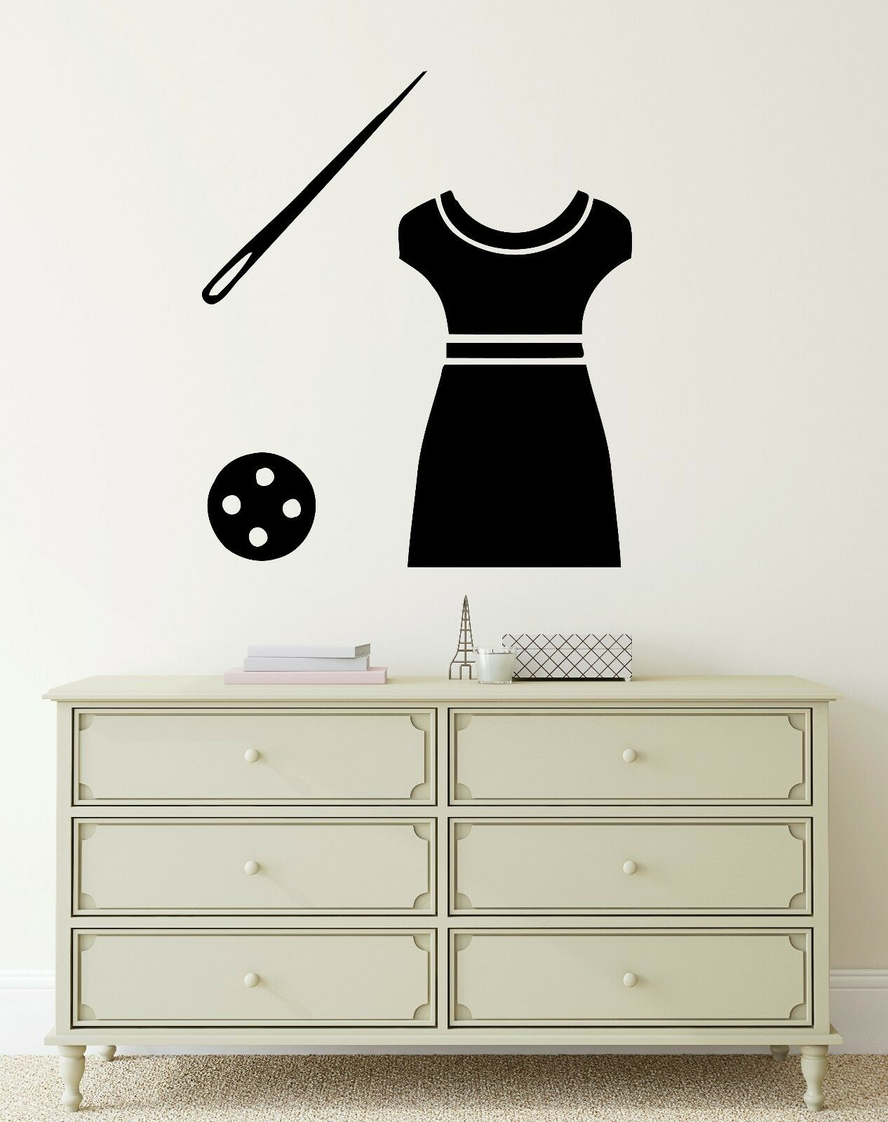 Wall Decal Dress Sewing Tailor Atelier Clothing Vinyl Stickers (ig2740)