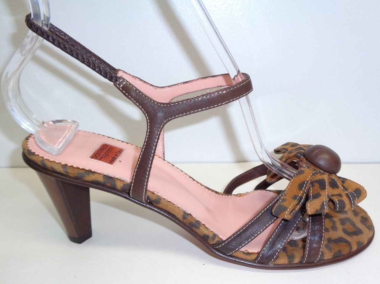Goffredo Fantini Size 7 7.5 GENIUS KENYA Brown Leather Sandals New Womens shoes