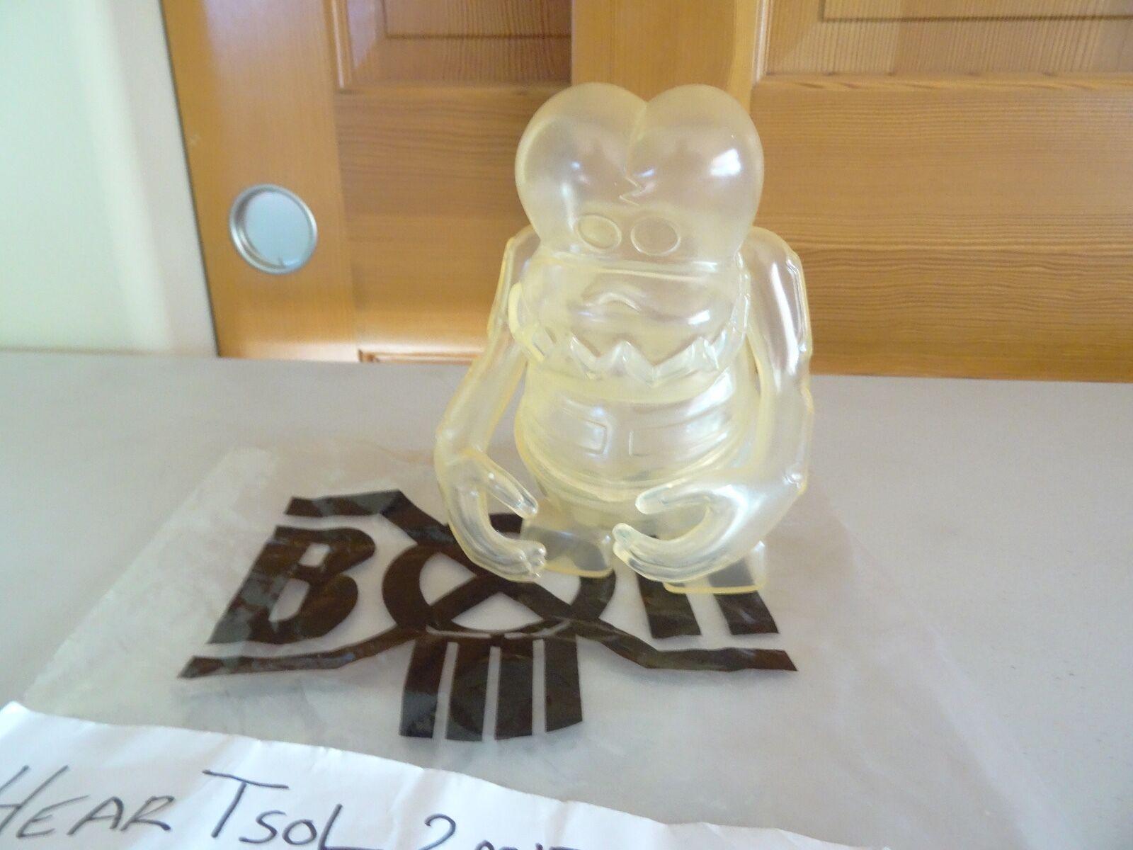 NEW bxh bounty hunter vinyl toy figure Clear Skull KUN - Sofubi - kidrobot KAWS