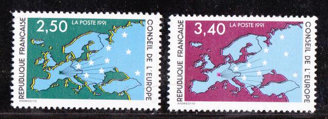¤¤ Yvert service 106/107 - Conseil de l'Europe 1991 - Neuf**  ¤¤