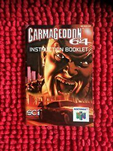 Carmageddon 64 ** ** solo oficial N64 manual de instrucciones versión UK
