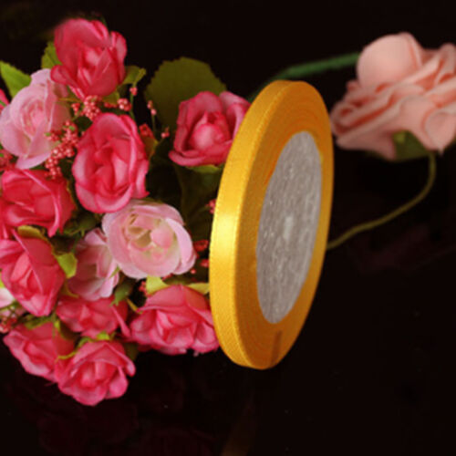 22.8 Matres 25 Yards Quality Reels of Satin Ribbon Roll Long Lengths Width 6mm