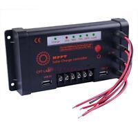 5A/10A 12V/24V MPPT Solar Panel Regulator Charge Controller 100V Input DC USB BG