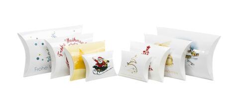 Geschenkschachtel 6er SET 100x30x95mm weiß Tannenbaum bunt BOX Faltschachtel