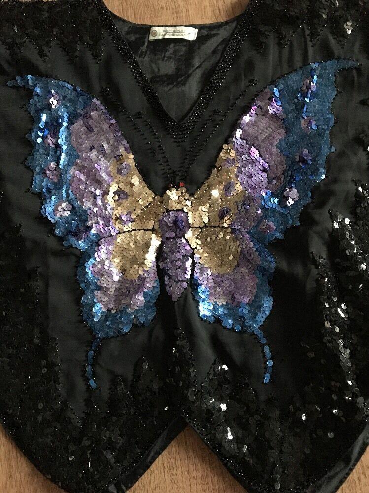 Festliches Festliches Festliches Top,Pailletten,Schmetterling,OverGröße,Schwarz,Gold,lilat,Blau,S     | Diversified In Packaging  | Tragen-wider  | Hochwertig  c35493