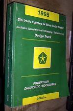 1998 1999 DODGE RAM TRUCK 24 VALVE CUMMINS 5.9L TURBO DIESEL POWERTRAIN DIAGNOST